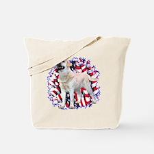 "Lab ""YLW"" Patriotic Tote Bag"
