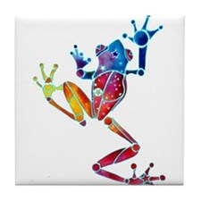 Whimsical Colors Tree Frog Tile Coaster