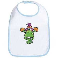 Cute Witchy Frog Bib