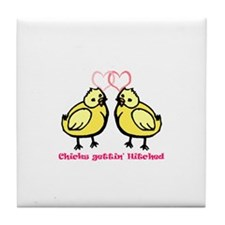Chicks gettin' Hitched Tile Coaster