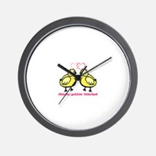 Chicks gettin' Hitched Wall Clock
