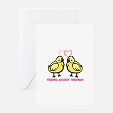 Chicks gettin' Hitched Greeting Cards (Package of