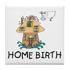 Home Birth Tile Coaster