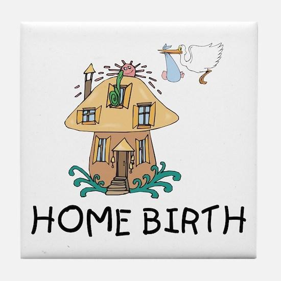 Home Birth Tile Coaster