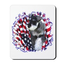 Mini Schnauzer Patriotic Mousepad
