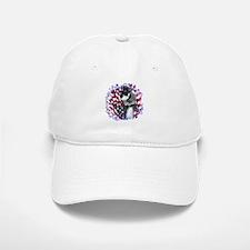 Mini Schnauzer Patriotic Baseball Baseball Cap
