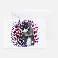 Mini Schnauzer Patriotic Greeting Cards (Package o