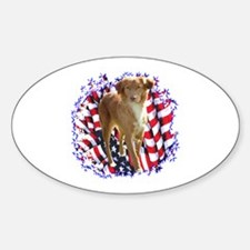 Toller Patriotic Oval Decal