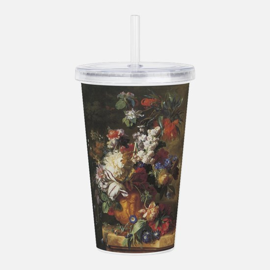 Bouquet of Flowers in an Urn Acrylic Double-wall T