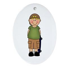 Skater Boy Oval Ornament