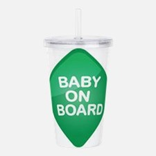 Baby On Board Sign Acrylic Double-wall Tumbler