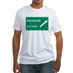 Porchville Exit Fitted T-Shirt