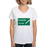 Porchville Exit Women's V-Neck T-Shirt