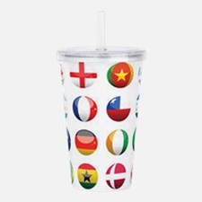 World Cup Soccer Balls Acrylic Double-wall Tumbler