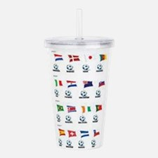 Soccer Balls And Flags Acrylic Double-wall Tumbler