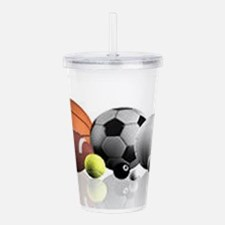 Sports Balls Acrylic Double-wall Tumbler