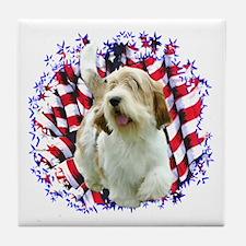 PBGV Patriotic Tile Coaster