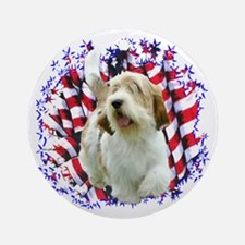 PBGV Patriotic Ornament (Round)