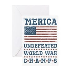 'Merica World War Champs Greeting Card