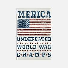 'Merica World War Champs Rectangle Magnet