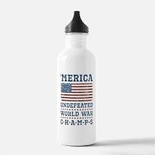 'Merica World War Cham Water Bottle