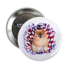Pomeranian Patriotic Button