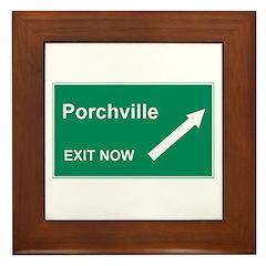 Porchville Exit Framed Tile