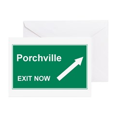 Porchville Exit Greeting Cards (Pk of 10)