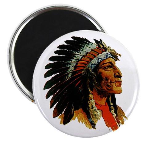 Indian Head Magnet - Vintage Native American