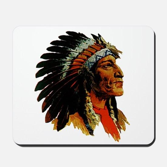 Indian Head Mousepad - Vintage Native American