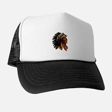 Indian Head Trucker Hat - Vintage Native American