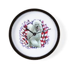 Poodle Patriotic Wall Clock