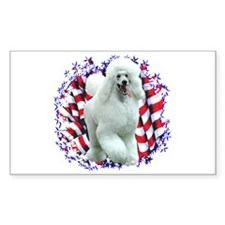 Poodle Patriotic Rectangle Decal
