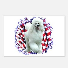 Poodle Patriotic Postcards (Package of 8)