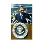 President John F. Kennedy Sticker (Rectangle)
