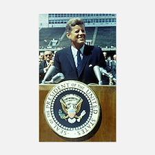 President John F. Kennedy Sticker (Rectangle)