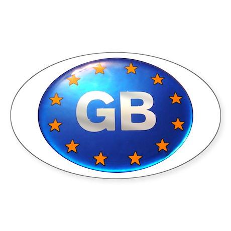 Great Britan GB Oval Sticker