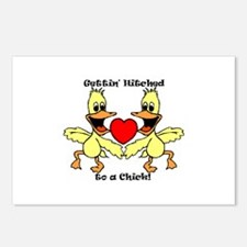 Gettin Hitched to a chick Postcards (Package of 8)
