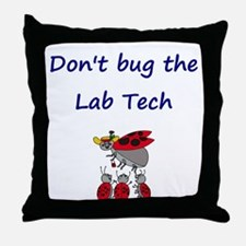 Lab Tech Ladybugs Throw Pillow