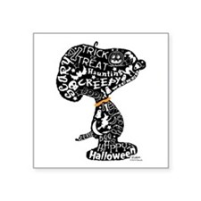 """Halloween Snoopy Collage Square Sticker 3"""" x 3"""""""