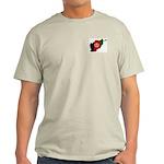 Afghan Flag/Map Ash Grey T-Shirt