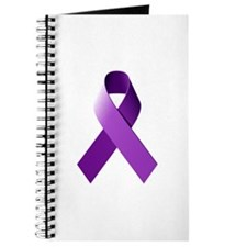 Cute Pancreatic cancer purple ribbon Journal