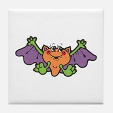 Cute Little Vampire Bat Tile Coaster