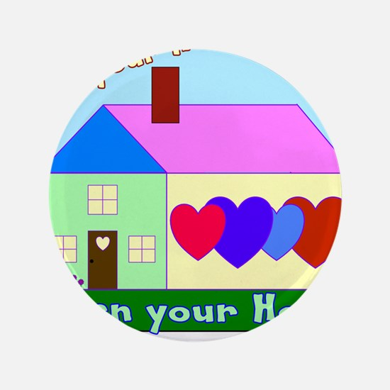 """Foster care 3.5"""" Button (100 pack)"""