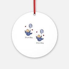 It's a Boy Twin Baby Boy Announcement Design Ornam