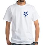 The Blue Masonic Star White T-Shirt