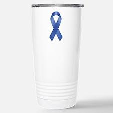 Unique Blue ribbon stop child abuse Travel Mug