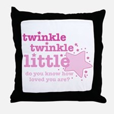 Twinkle Twinkle Pink Throw Pillow