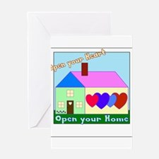 Open your Heart Greeting Cards