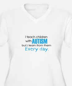 Autism Learn Plus Size T-Shirt